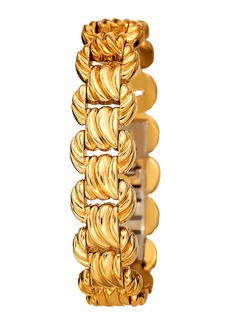 Bruno Magli Textured Link Bracelet  Golden