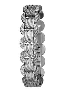 Bruno Magli Textured Link Bracelet  Silvertone