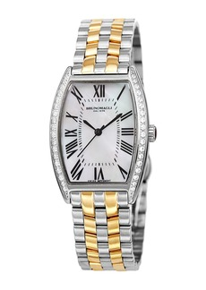 Bruno Magli Womens Diana 1301 Two-Tone Diamond Bracelet Watch, 28mm - 0.10 ctw