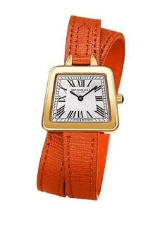 Bruno Magli Women's Emma 1143 Double Wrap Embossed Leather Strap Watch, 30mm