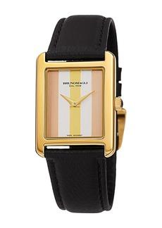 Bruno Magli Women's Giulia 1502 Tricolor Dial Italian Leather Strap Watch, 36mm