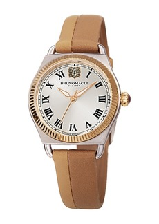 Bruno Magli Women's Lucia 1341 Two-Tone Leather Strap Watch, 31mm