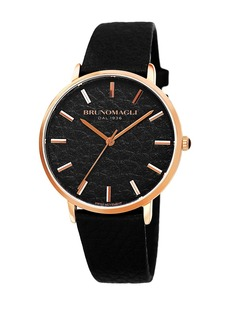 Bruno Magli Women's Roma 1223 Embossed Leather Strap Watch, 38mm x 42mm