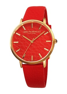 Bruno Magli Women's Roma 1223 Leather Watch, 38mm