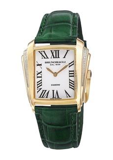 Bruno Magli Women's Vera 1461 Croc Embossed Leather Strap Watch, 32mm - 0.8ctw