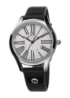 Bruno Magli Womens's Alessia 1381 Swiss Ronda Quartz 763 Leather Strap Watch, 36mm
