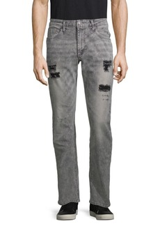 Buffalo Jeans Ash Distressed Straight-Leg Jeans