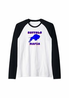 Buffalo Jeans Bills Mafia Tee makes a great gift for Buffalo sports fan Raglan Baseball Tee