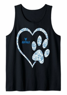 Buffalo Jeans Buffalo Bulls Patterned Heart Graphic Print Tank Top