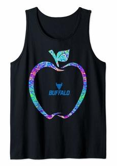 Buffalo Jeans Buffalo Bulls Teacher - Apple Outline Rainbow Swirl - Team Tank Top