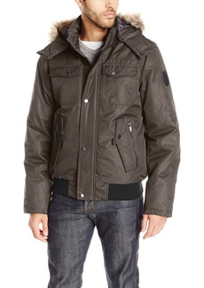 Buffalo Jeans Buffalo by David Bitton Men's Brushed Radiance Hooded Jacket
