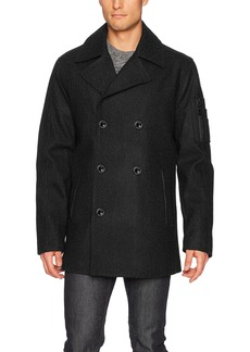 Buffalo Jeans Buffalo by David Bitton Men's Double Breasted Peacoat  L