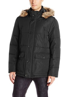 Buffalo Jeans Buffalo by David Bitton Men's Polyester Zip Front Parka With Hood