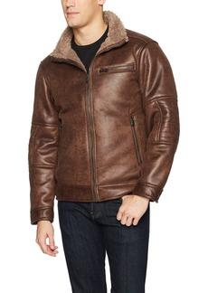 Buffalo Jeans Buffalo by David Bitton Men's Shearling Jacket With Faux Fur Lining  XL