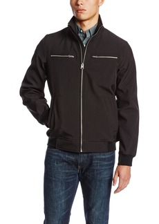 Buffalo Jeans Buffalo by David Bitton Men's Solid Softshell Bomber Jacket