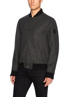 Buffalo Jeans Buffalo by David Bitton Men's Wool Herringbone Bomber Jacket  L