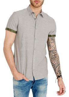 Buffalo Jeans BUFFALO David Bitton Camo-Panel Short-Sleeve Shirt