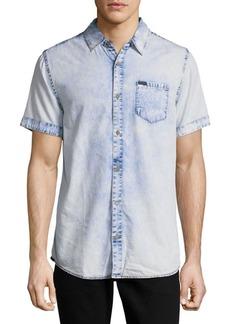 Buffalo Jeans BUFFALO David Bitton Denim-Inspired Cotton Casual Shirt