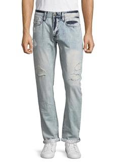 Buffalo Jeans BUFFALO David Bitton Evan Slim-Fit Distressed Jeans