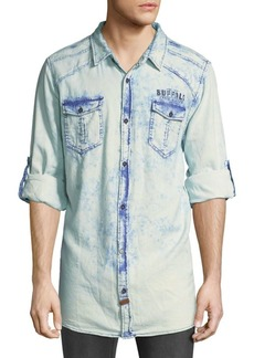 Buffalo Jeans Faded Denim Button-Down Shirt