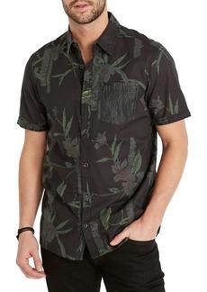 Buffalo Jeans BUFFALO David Bitton Floral Short-Sleeve Button-Down Shirt
