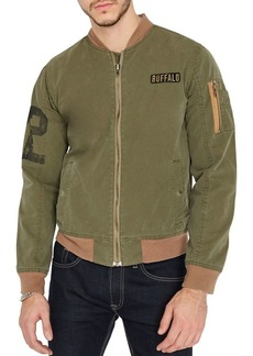 Buffalo Jeans BUFFALO David Bitton Graphic Canvas Bomber Jacket