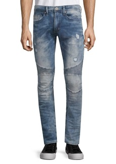Buffalo Jeans Max-X Distressed Skinny Jeans
