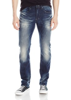 Buffalo Jeans Buffalo David Bitton Men's Ash Skinny Fit Fashion Jean in A Whiskered and Sandblasted Wash 36 x 32