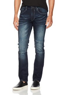 Buffalo Jeans Buffalo David Bitton Men's Ash-x Slim Fit Medium Contrasted Wash Stretch Denim Pant