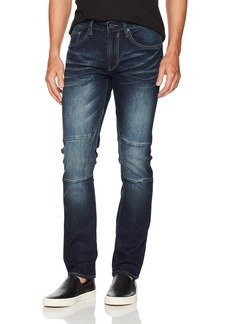 Buffalo Jeans Buffalo David Bitton Men's Ash-x Slim Fit Medium Contrasted Wash Stretch Denim Pant