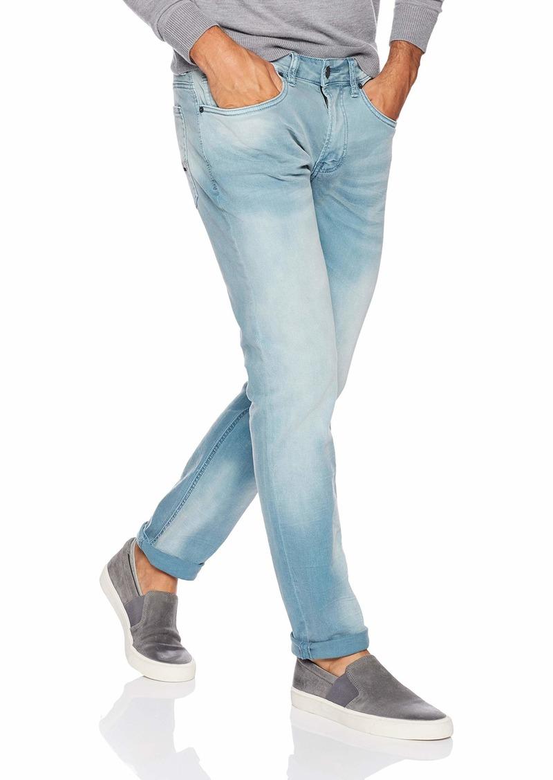 Buffalo David Bitton Mens Six Slim Straight Leg Fashion Jean in a Scratched and Sandblasted Wash