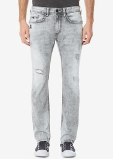 Buffalo Jeans Buffalo David Bitton Men's Ash-x Slim Fit Stretch Embroidered Destroyed Jeans