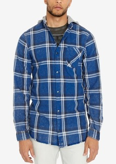 Buffalo Jeans Buffalo David Bitton Men's Classic Fit Hooded Plaid Sak-x Shirt
