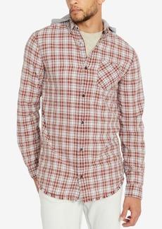 Buffalo Jeans Buffalo David Bitton Men's Classic Fit Hooded Plaid Sak-x Shirt