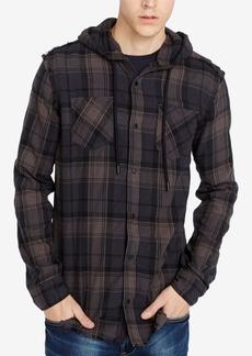 Buffalo Jeans Buffalo David Bitton Men's Classic Fit Hooded Plaid Sidron Shirt