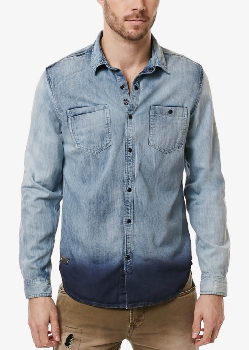 Buffalo Jeans Buffalo David Bitton Men's Denim Dip-Dye Shirt