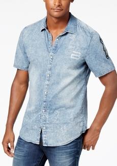Buffalo Jeans Buffalo David Bitton Men's Denim Graphic-Print Shirt
