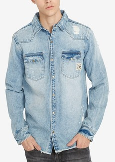 Buffalo Jeans Buffalo David Bitton Men's Distressed Denim Shirt
