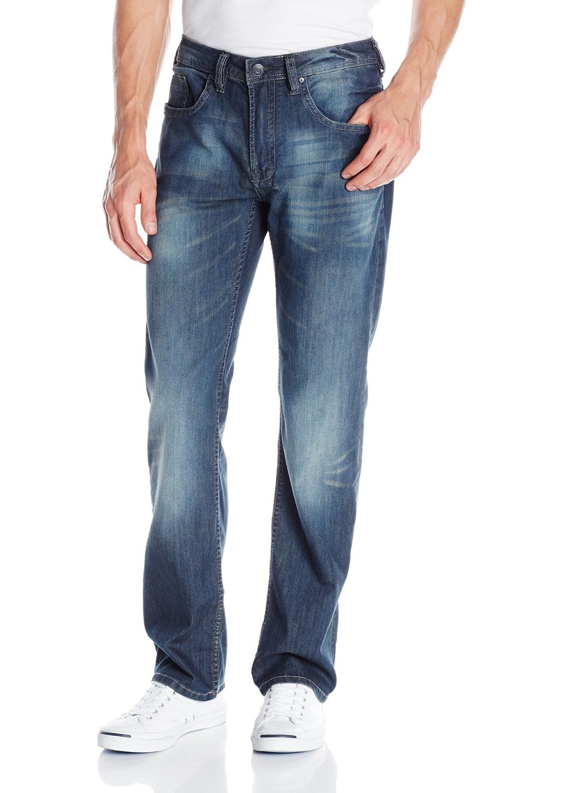 Buffalo Jeans Buffalo David Bitton Men's Driven Straight-Leg Jean in Dark Slightly Crinked 36x32