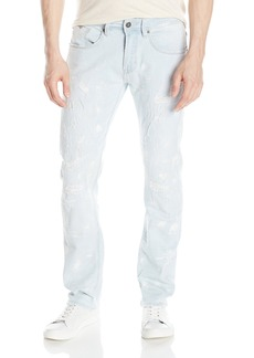 Buffalo Jeans Buffalo David Bitton Men's Evan Slimmer Fit Fashion Jean in A Heavily Distressed and Painted Wash 32 x 32