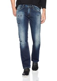 Buffalo Jeans Buffalo David Bitton Men's Evan-x Slim Straight Fit Distressed and Sanded Denim Pant