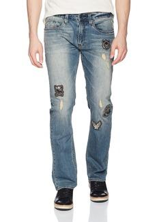 Buffalo Jeans Buffalo David Bitton Men's Evan-x Slim Straight Fit Sanded and Worn Stretch Denim Pant