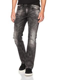 Buffalo Jeans Buffalo David Bitton Men's Evan-x Slim Straight Fit Veined and Sanded Denim Pant