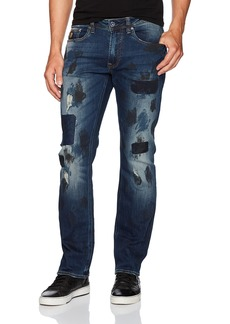 Buffalo Jeans Buffalo David Bitton Men's Evan-x Slim Straight used and Repaired Fashion Denim Pant