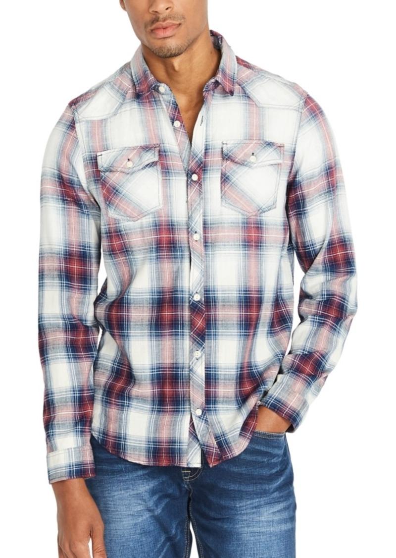 Buffalo Jeans Buffalo David Bitton Men's Faded-Plaid Shirt