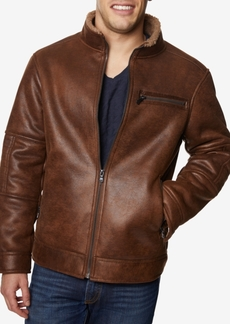 Buffalo Jeans Buffalo David Bitton Men's Faux-Leather Jacket