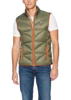 Buffalo Jeans Buffalo David Bitton Men's Jadan Nylon Full Zip Quilted Fashion Puffer Vest