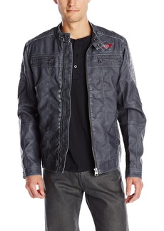 Buffalo Jeans Buffalo David Bitton Men's Jarley Vegan Leather Jacket