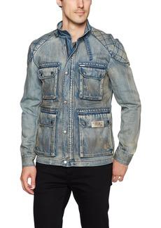 Buffalo Jeans Buffalo David Bitton Men's Jistanzi Full Zip Washed Denim Fashion Jacket