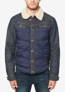 Buffalo Jeans Buffalo David Bitton Men's Jivit Quilted Denim Jacket with Fleece Collar